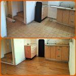 לפני ואחרי פרקט קוויק סטפ בדירה שכורה
